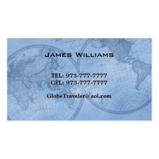 tarjetas de visita del mapa del mundo