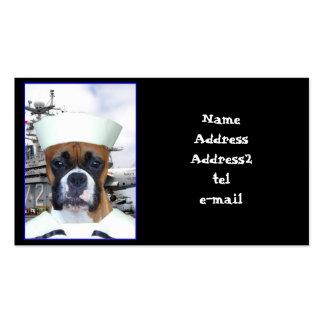 Tarjetas de visita del marinero de la marina de gu