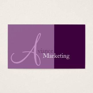 Tarjetas de visita del márketing