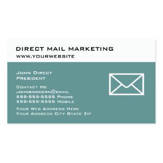 Tarjetas de visita del márketing de correo directo