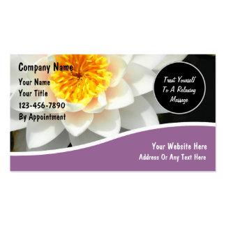 Tarjetas de visita del masaje