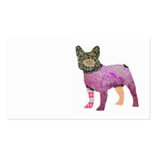 Tarjetas de visita del mascota del remiendo del do