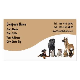 Tarjetas de visita del mascota