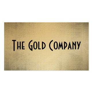 Tarjetas de visita del metal del oro