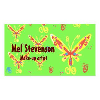 Tarjetas de visita del modelo de mariposas