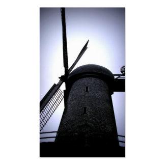 Tarjetas de visita del molino de viento de Lomo