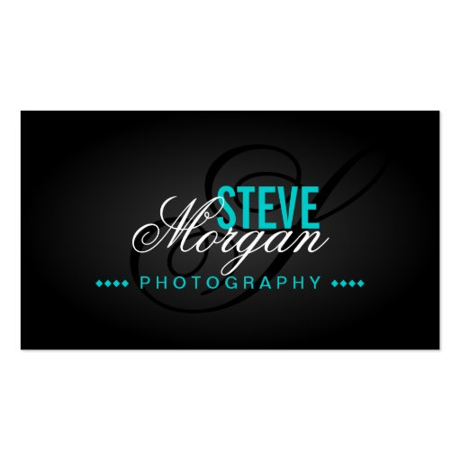 Tarjetas de visita del monograma de la fotografía