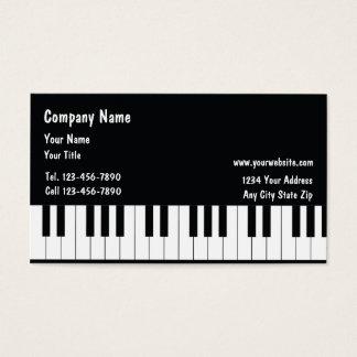Tarjetas de visita del músico