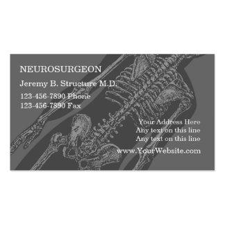 Tarjetas de visita del neurocirujano
