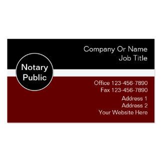 Tarjetas de visita del notario