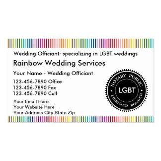 Tarjetas de visita del notario de LGBT