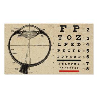 Tarjetas de visita del Ophthamologist del vintage
