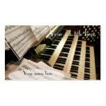 Tarjetas de visita del organista