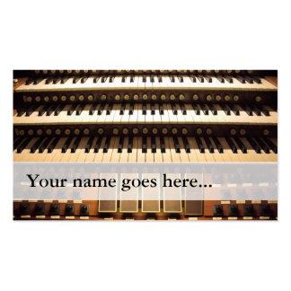 Tarjetas de visita del organista - 3 manuales