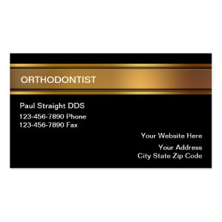 Tarjetas de visita del Orthodontist