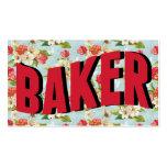 Tarjetas de visita del panadero del vintage
