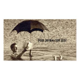 Tarjetas de visita del paraguas del mar muerto del