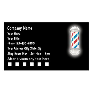 Tarjetas de visita del peluquero
