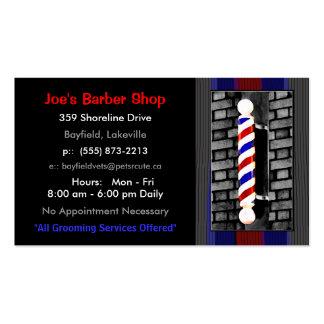 Tarjetas de visita del peluquero/del estilista de