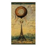 Tarjetas de visita del perfil de la torre Eiffel d