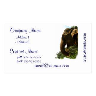 Tarjetas de visita del perfil del elefante
