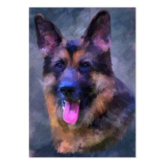 Tarjetas de visita del perfil del perro de pastor