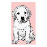 Tarjetas de visita del perrito de Labrador