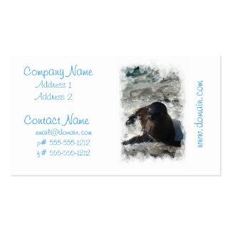 Tarjetas de visita del perrito del león marino
