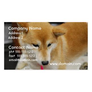 Tarjetas de visita del perro de Shiba Inu