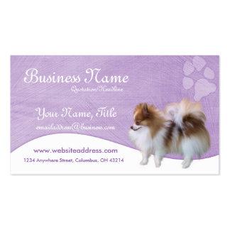 Tarjetas de visita del perro:: Pomeranian D2b