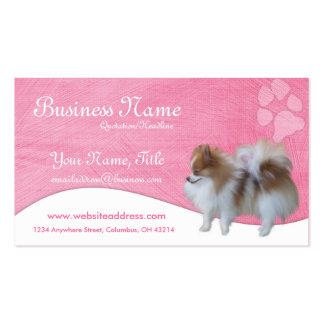 Tarjetas de visita del perro:: Pomeranian
