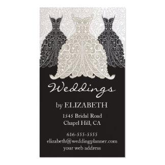 Tarjetas de visita del planificador del boda