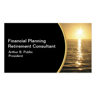 Tarjetas de visita del planificador financiero