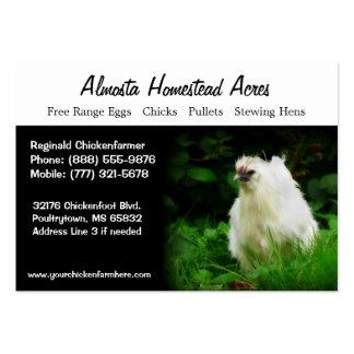 Tarjetas de visita del pollo del país