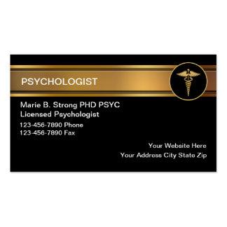 Tarjetas de visita del psicólogo