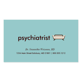 Tarjetas de visita del psiquiatra