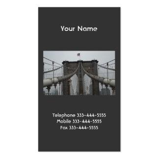 Tarjetas de visita del puente de Brooklyn