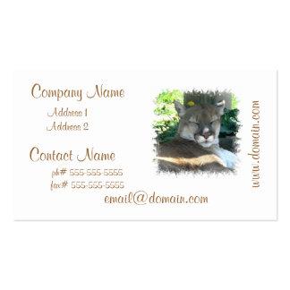 Tarjetas de visita del puma