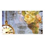 Tarjetas de visita del reloj de los rosas de Steam