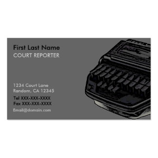 Tarjetas de visita del reportero de corte de la