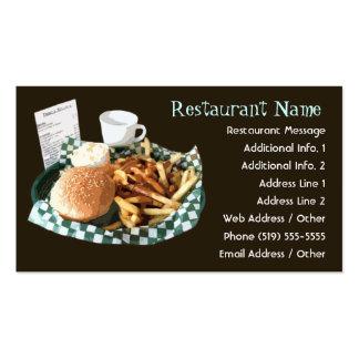 Tarjetas de visita del restaurante/del