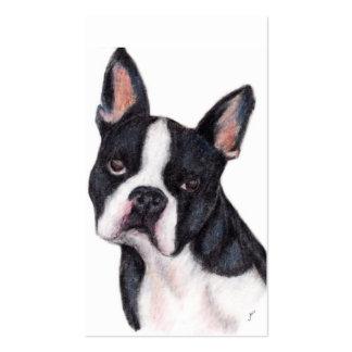 Tarjetas de visita del retrato de Boston Terrier