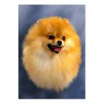 Tarjetas de visita del retrato de Pomeranian
