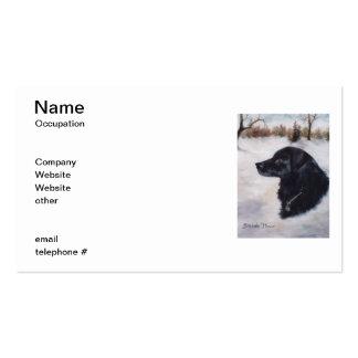 Tarjetas de visita del retrato del perro de Actune