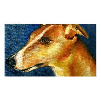 Tarjetas de visita del retrato del perro del galgo