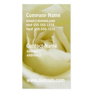 Tarjetas de visita del rosa blanco
