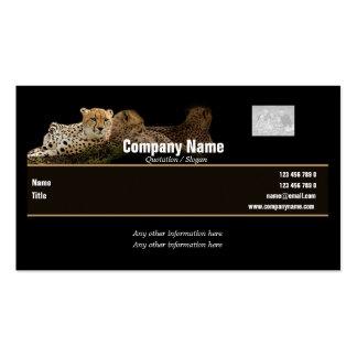 Tarjetas de visita del safari, guepardos - persona