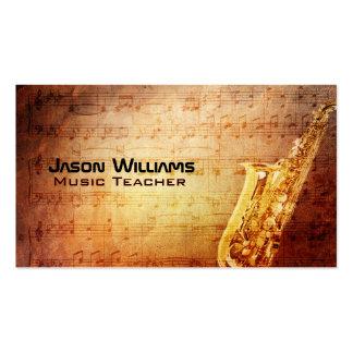 Tarjetas de visita del saxofón