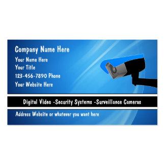 Tarjetas de visita del sistema de seguridad