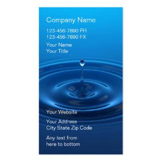Tarjetas de visita del sistema del filtro de agua